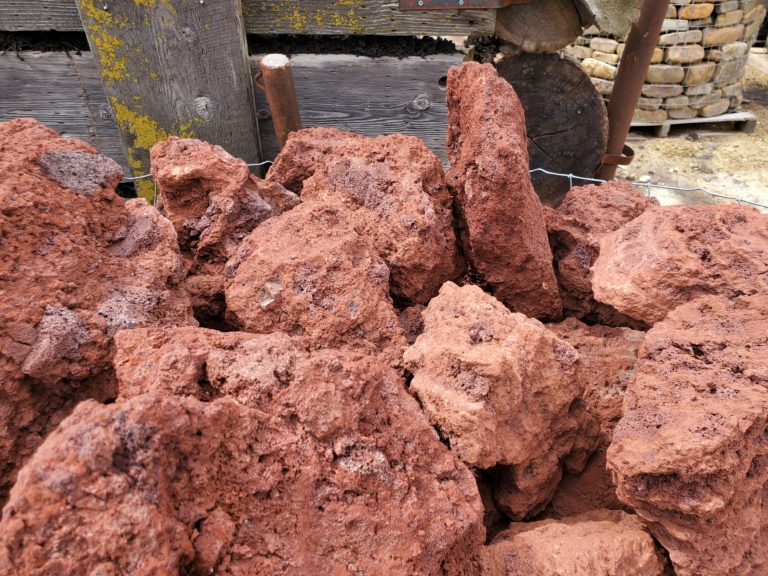 Lava red boulders