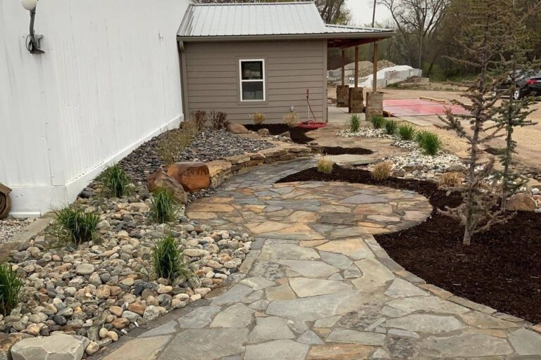 Rustic Flagstone mixed with blue gray