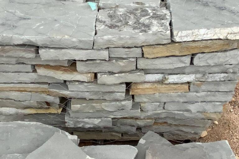 Blue gray flagstone squares