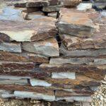 Blue/brown flagstone patio paver