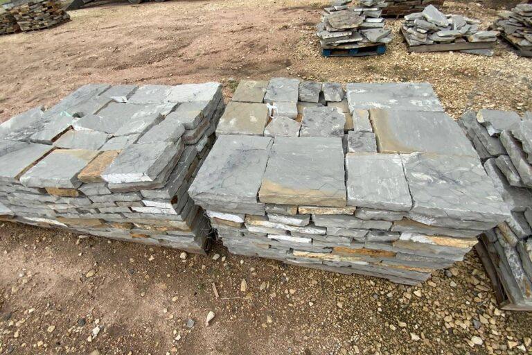 Blue grey flagstone squares