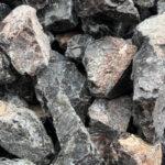 Black Obsidian river rock